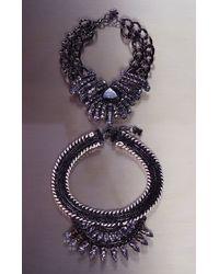 BCBGMAXAZRIA - Blue Teardrop Stone Chain Necklace - Lyst