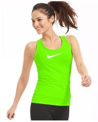 Nike | Green Pro Dri-fit Tank | Lyst