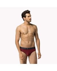 Tommy Hilfiger | Red Stretch Cotton Brief for Men | Lyst
