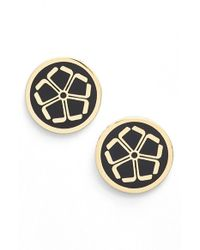 Trina Turk | Metallic 'floret' Button Stud Earrings | Lyst