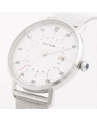 Paul Smith - Metallic Men's White And Silver 'gauge' Watch for Men - Lyst