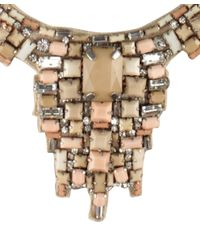 Amen - Metallic Necklace With Embroidered Stones - Lyst