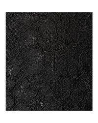 Diane von Furstenberg Black Cloe Lace Skirt