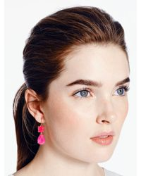 kate spade new york - Pink Vegas Jewels Drop Earrings - Lyst