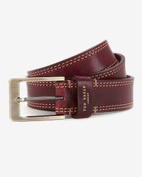 Ted Baker - Red Cricket Stitch Belt for Men - Lyst