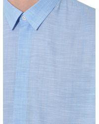 JOSEPH | Blue Weston Melange Cotton Shirt for Men | Lyst