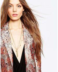 ASOS - Metallic Fine Choker & Multirow Tassel Necklace - Lyst