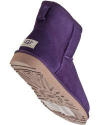 UGG - Classic Mini Boot Purple Violet Suede - Lyst