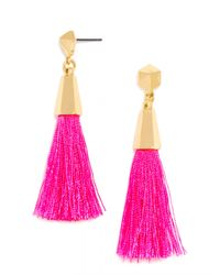 BaubleBar | Pink Festival Tassel Drops | Lyst