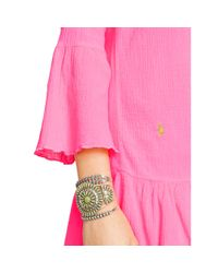 Polo Ralph Lauren | Pink Ruffled Cotton Tunic | Lyst