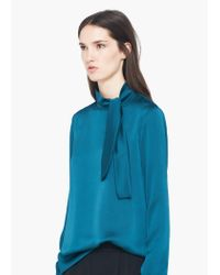 Mango | Green Bow Shirt | Lyst