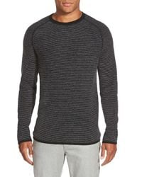 VINCE | Black Trim Fit Long Sleeve Stripe Cashmere Sweater for Men | Lyst