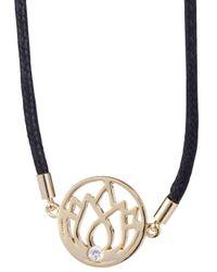 Melissa Odabash - Black Lotus Friendship Bracelet - Lyst