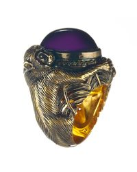 Queensbee | Purple Monkey Year Ring | Lyst
