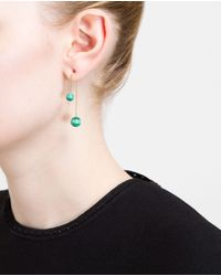 Asherali Knopfer | Green Gold And Malachite Bar Earring | Lyst
