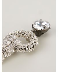 Giorgio Armani - Metallic Embellished Clip On Earrings - Lyst