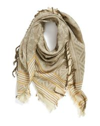 Vince Camuto - Natural Square Jacquard Scarf - Lyst