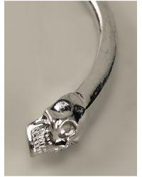 Alexander McQueen | Metallic Twin Skull Bracelet for Men | Lyst