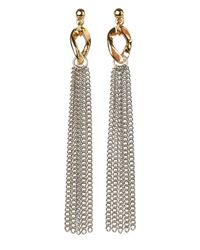 Jaeger | Metallic Curb Link And Chain Earrings | Lyst