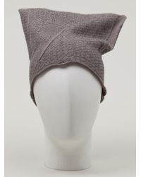 Label Under Construction - Gray Double Layer Hooked Cap for Men - Lyst