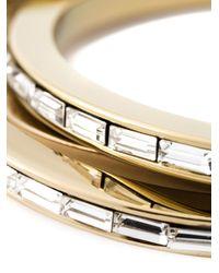 DSquared²   Metallic Embellished Triple Bangle   Lyst