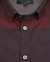 Ted Baker - Red Checked Cotton Shirt for Men - Lyst
