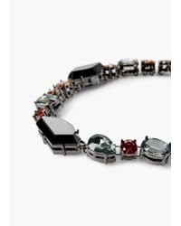 Mango - Black Faceted Stone Necklace - Lyst