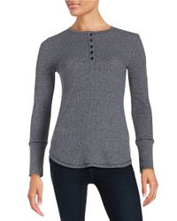 Calvin Klein | Black Thermal Henley | Lyst
