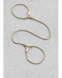 & Other Stories | Metallic Two-Finger Chain Ring | Lyst