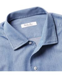 Loro Piana - Blue Washeddenim Shirt for Men - Lyst