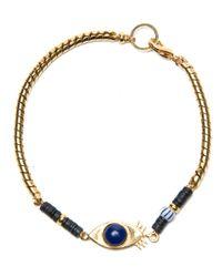 Lizzie Fortunato - Blue Evil Eye Bracelet - Lyst