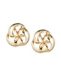 Jones New York - Metallic Goldtone Pinwheel Stud Earrings - Lyst