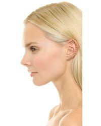 Lady Grey - Metallic Ball Bead Left Ear Crawler - Gold - Lyst