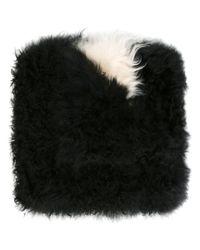 MSGM - Black Goat Fur Scarf - Lyst