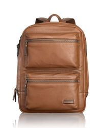 Tumi | Brown 'mission - Bryant' Leather Backpack for Men | Lyst