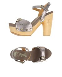 Flogg | Metallic Sandals | Lyst