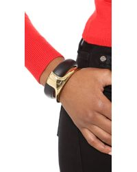 Alexis Bittar - Metallic Liquid Stacked Hinge Bracelet  Black - Lyst