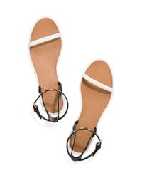 Tory Burch - White Leather Ankle-strap Flat Jelly Sandal - Lyst
