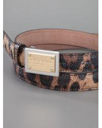 Dolce & Gabbana - Multicolor Leopard Print Belt - Lyst