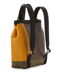 Marni - Multicolor Colorblock Leather Parachute Backpack - Lyst