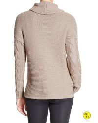 Banana Republic | Brown Factory Cable-knit Cowl-neck Sweater | Lyst
