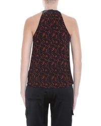 A.L.C. - Orange Mari Halter Printed Top - Lyst