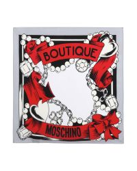 Boutique Moschino - Gray Boutique Jewels Silk Square - Lyst