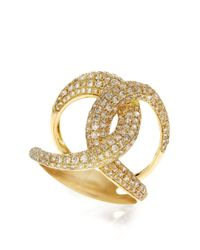 Effy | Metallic Diamond And 14k Yellow Gold Ring, 1.55 Tcw | Lyst
