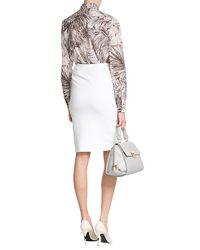 Ferragamo - Brown Printed Cotton Shirt - Florals - Lyst