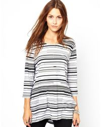 Cheap Monday | Gray Stripe Top | Lyst