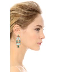 kate spade new york - Blue Beach Gem Statement Earrings - Aqua Multi - Lyst