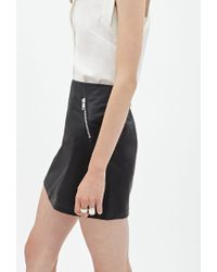Forever 21 - Black Faux Leather Mini Skirt - Lyst