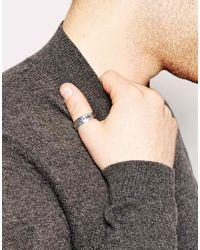ASOS - Metallic Thumb Ring With Latin Engraving for Men - Lyst