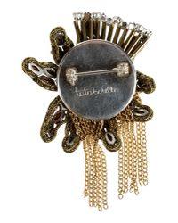 Tataborello Metallic Brooch